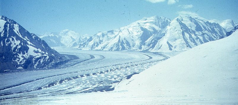 Fedchenko Glacier in the Pamir Mountains